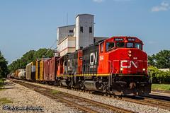 CN 9544   EMD GP40-2LW   CN Memphis Subdivision