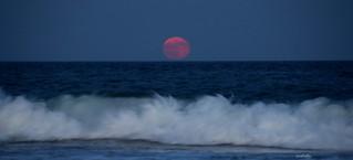 Thunder Moon over the Atlantic -- EXPLORED