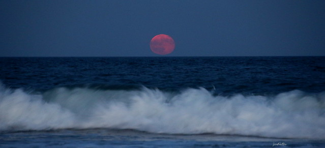 Thunder Moon over the Atlantic -- EXPLORED
