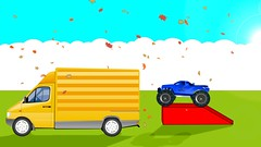 Learn-Colours-With-Mcqueen-Monster-Trucks-For-Children-Video-For-Kids