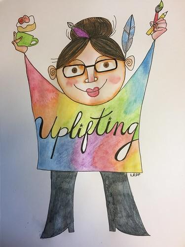 21 Uplifting - Art Journal Page