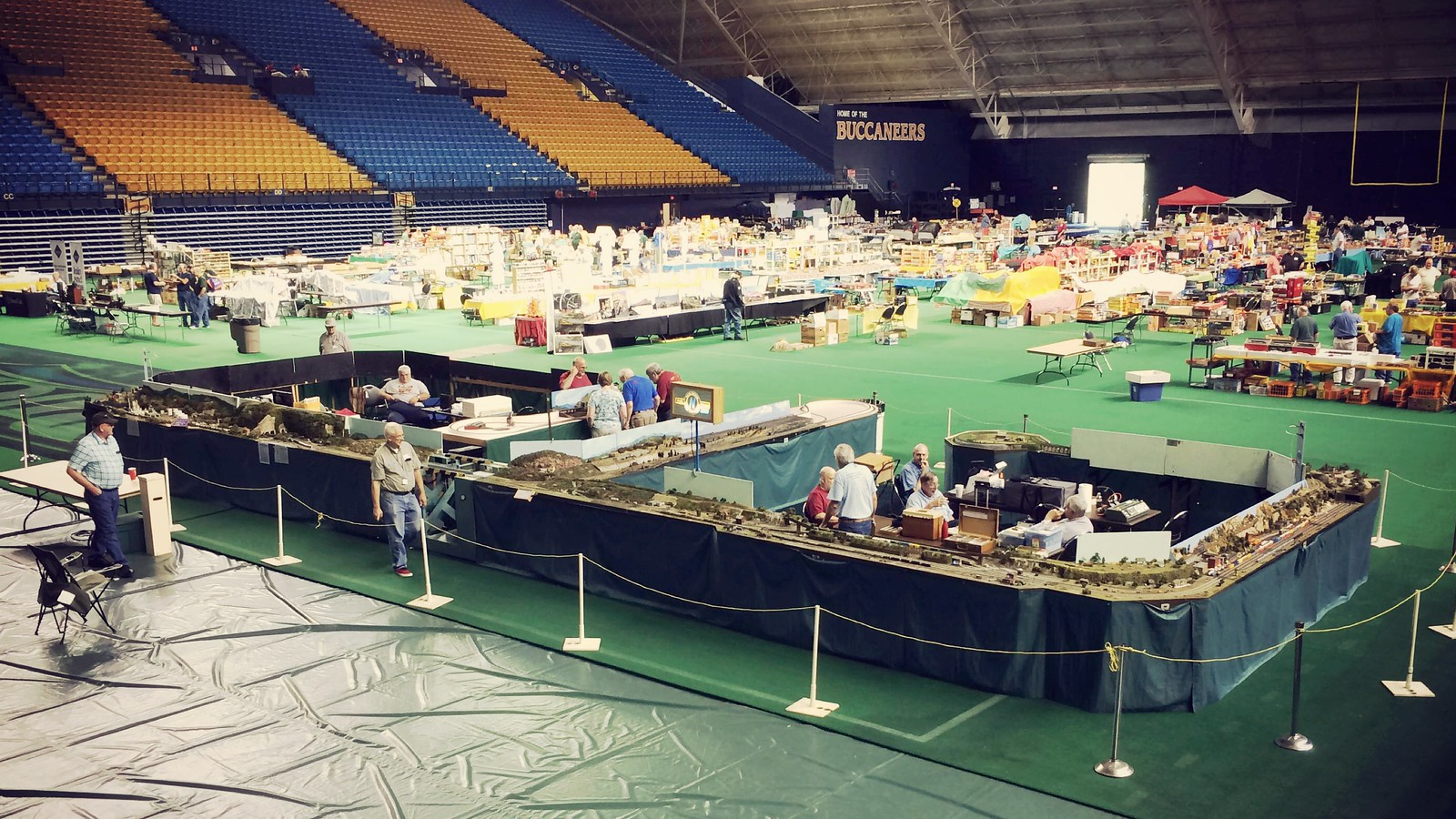 The North Raleigh Model Train Club (NRMRC) along with the Lynchburg Area N Scalers (LANS) participated in the Second Annual Train Show at East Tennessee State University (ETSU) on Friday June 2nd - Saturday June 3rd sponsored by the George L. Carter Museum and the ET&WNCRR (Tweetsie) Historical Society