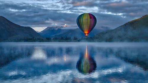 Hot Air Ballooning In The Morning