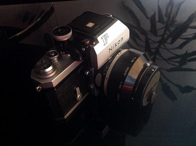 NIKON F Photomic T, lens Nikkor-S Auto 1:1,4 f=50mm