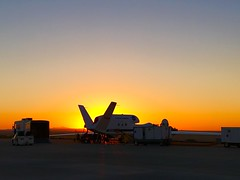 As the Sun Rises, NASA's Global Hawk is Being Prepared for Flight