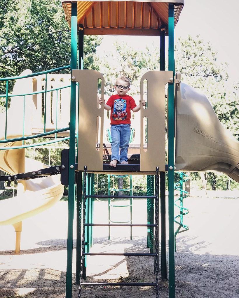 Ezra, king of the playground. // #ezrayuuto #boystownliving