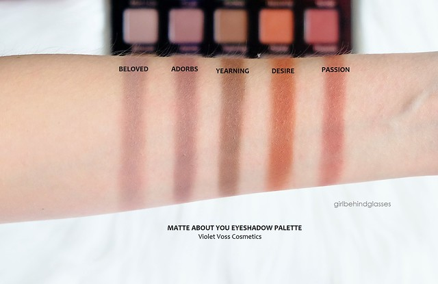 Violet Voss Matte About You Eyeshadow Palette Row 3 swatches