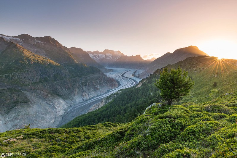 Sunrise - Aletsch glacier