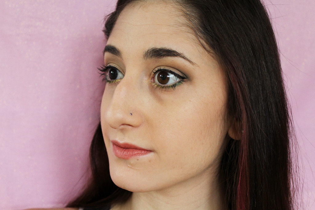 Browns and greens makeup look