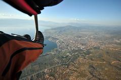 Tandem paragliding flight over Ohrid
