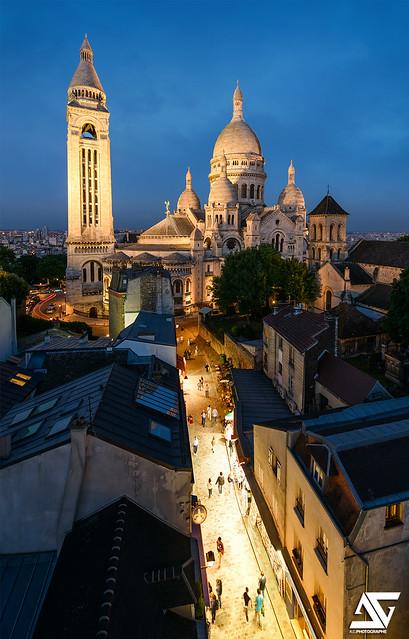 Le Sacré-Coeur et ses rues commerçantes