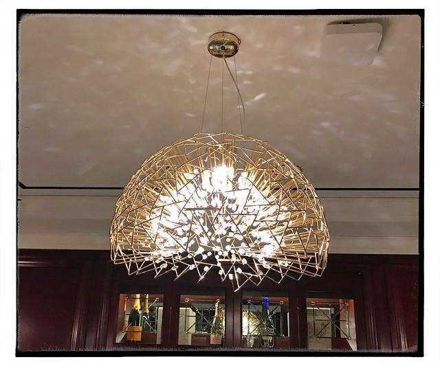 Inside out chandelier.