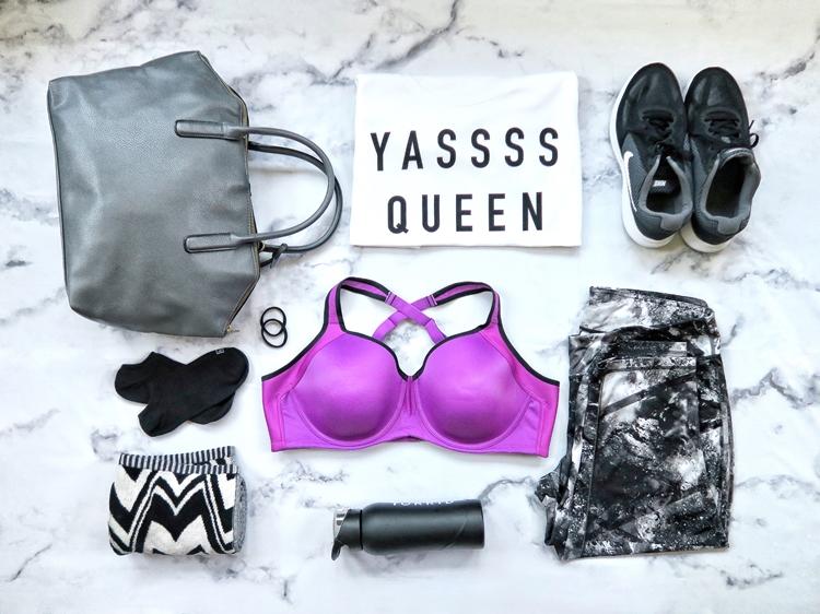 Vanity Fair Sport Bra Plus Size Workout Gym Bag