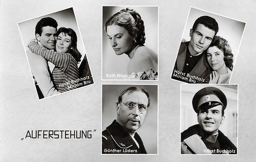 Horst Buchholz, Myriam Bru, Ruth Niehaus and Günther Lüders in Auferstehung (1958)