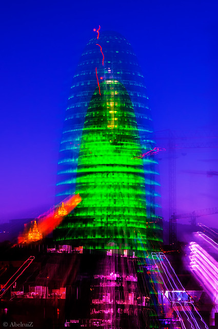 Torre Agbar zooming