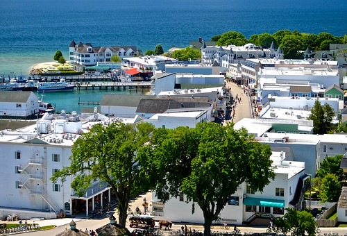 mackinacisland viewfromfort mainstreet