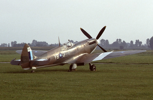 Supermarine Spitfire Mk.VIII at Levaldigi airport, Italy in Sept. 1984