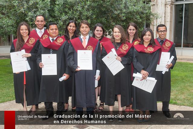 Graduación de la II promoción del Máster en Derechos Humanos
