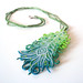Peacock Feather Convertible Pendant Necklace/Brooch