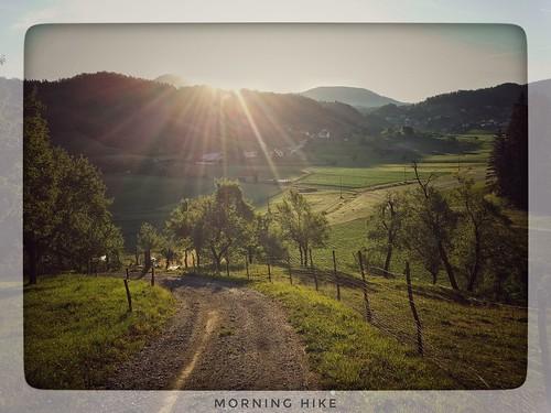 sunrise landscape nature outdoor morning hiking snapseed