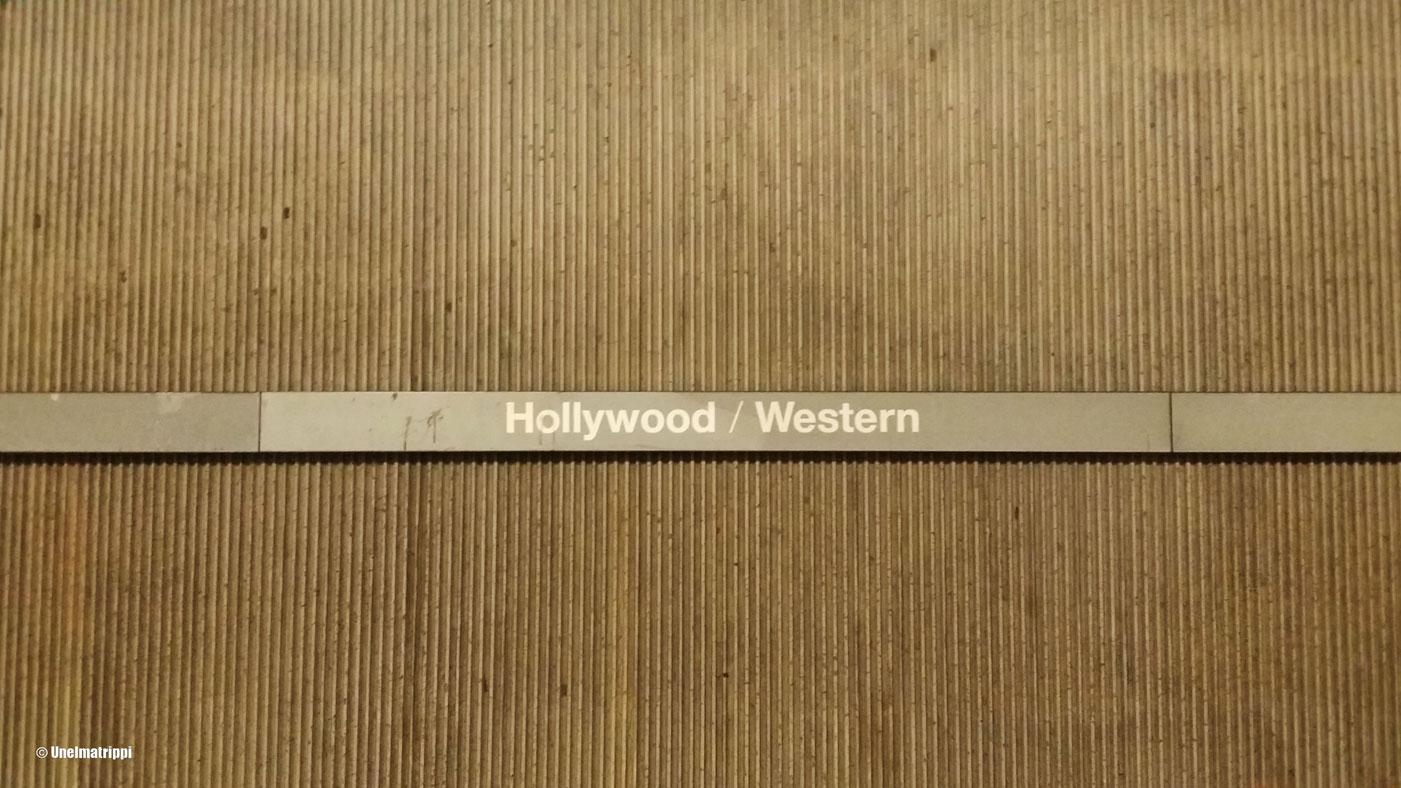 Hollywood Western -metrokyltti, Los Angeles, Kalifornia, USA