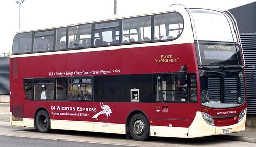 A17 EYC 'East Yorkshire Motor Services' No. 779 'X4 Wicstun Express' ADL E40D / ADL Enviro 400 on 'Dennis Basford's railsroadsrunways.blogspot.co.uk'