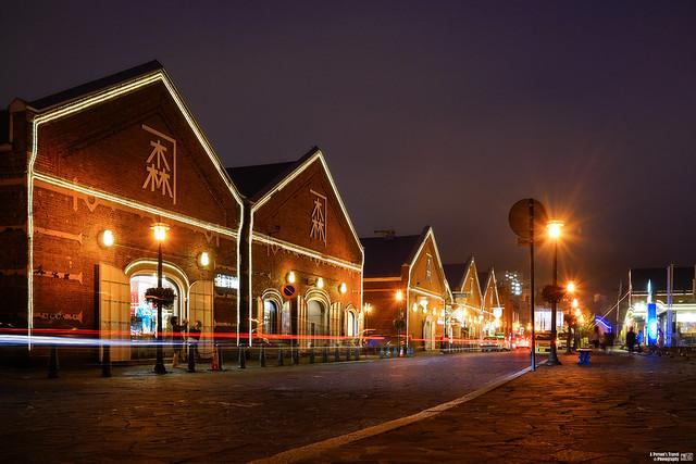 金森紅磚倉庫夜景