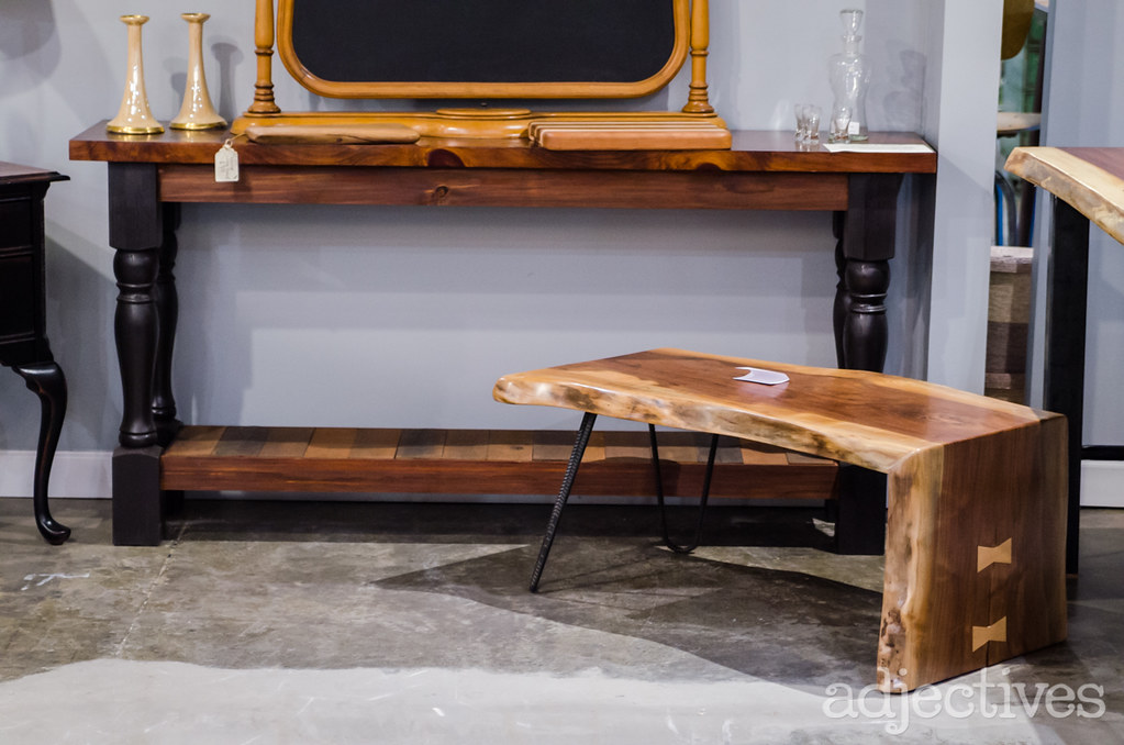 Hand crafted coffee table and console table by Refined by David in Adjectives Altamonte