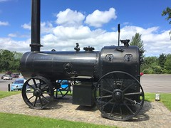 Marshall Portable Steam Boiler at Entrance to Ulster Transport Museum