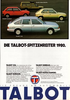 1980 Talbot Line (Swiss Ad)