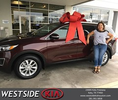 Congratulations Gabriela on your #Kia #Sorento from Orlando Baez at Westside Kia!