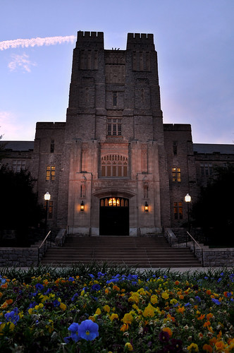 Burruss Hall at Dusk