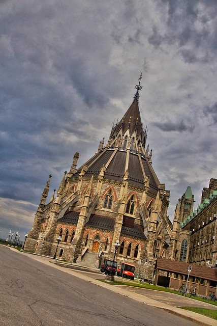 Ottawa Ontario Canada ~ Parliament Hill and  Library ~ Historical Site