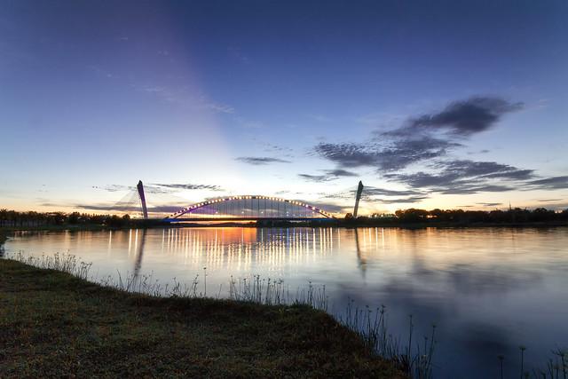 Seri Gemilang Bridge during sunset, Putrajaya, Malaysia