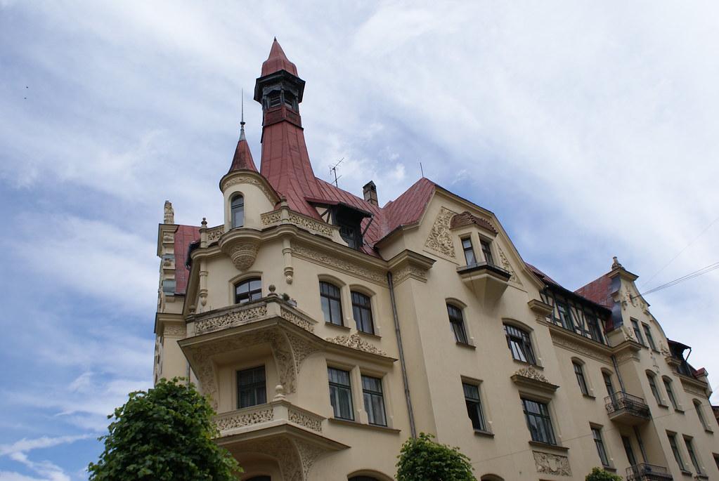 Musée d'art nouveau à Riga, rue Alberta au n°12.