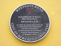 Photo of Hadrian's Wall black plaque
