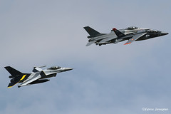 Formation F16's FA-109 and FA-132 with Alpha Jet AT-18