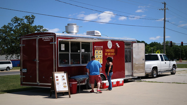 Sabores De Mexico Taco Truck in Windsor Heights Iowa
