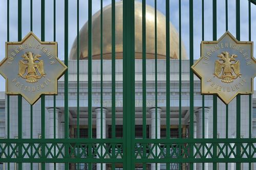 ashgabat turkmenistan dome gold golden palace tm