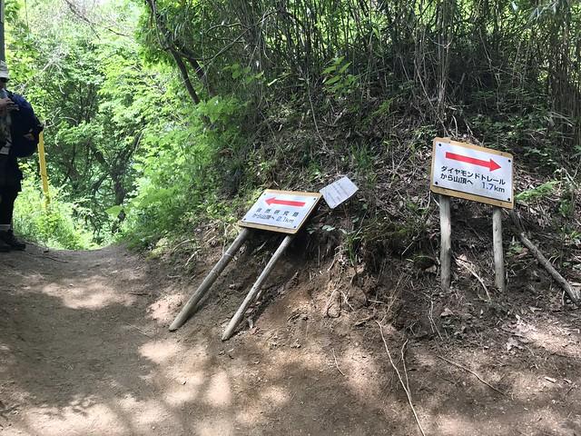 大和葛城山 北尾根・自然研究路分岐