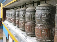 Prayer Wheels - Yiga Choeling Monastery - Ghoom Darjeeling West Bengal India