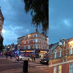 Fireys out on Fawley Rd. Looks like bits of the building might be loose. @whampstead