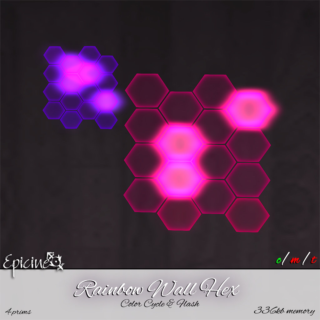 Epicine - Rainbow Wall Hex [Color Cycle & Flash] - SecondLifeHub.com