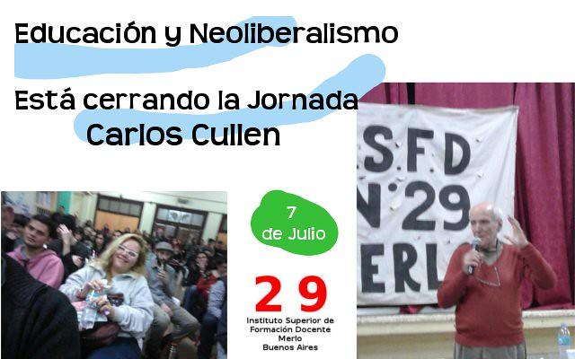 Carlos Cullen en el ISFD N°29
