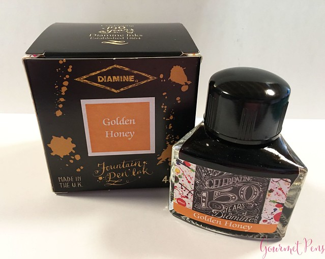 Ink Shot Review Diamine Anniversary Golden Honey @AppelboomLaren 1