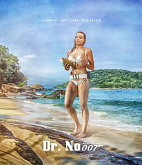 007 MOVIE POSTERS: Dr. No ft. Margot Robbie