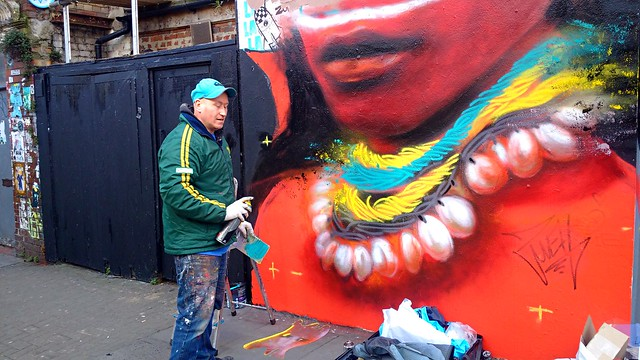 Work in Progress. Dale Grimshaw Street Artist