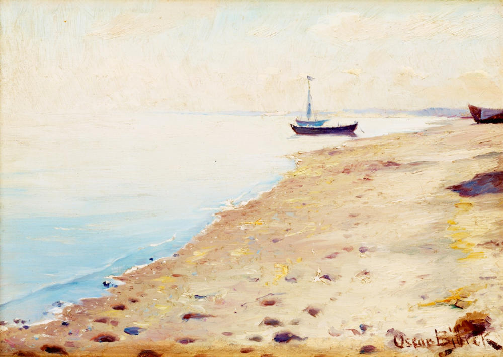 The Skagen Beach by Oscar Gustaf Bjorck, 1882