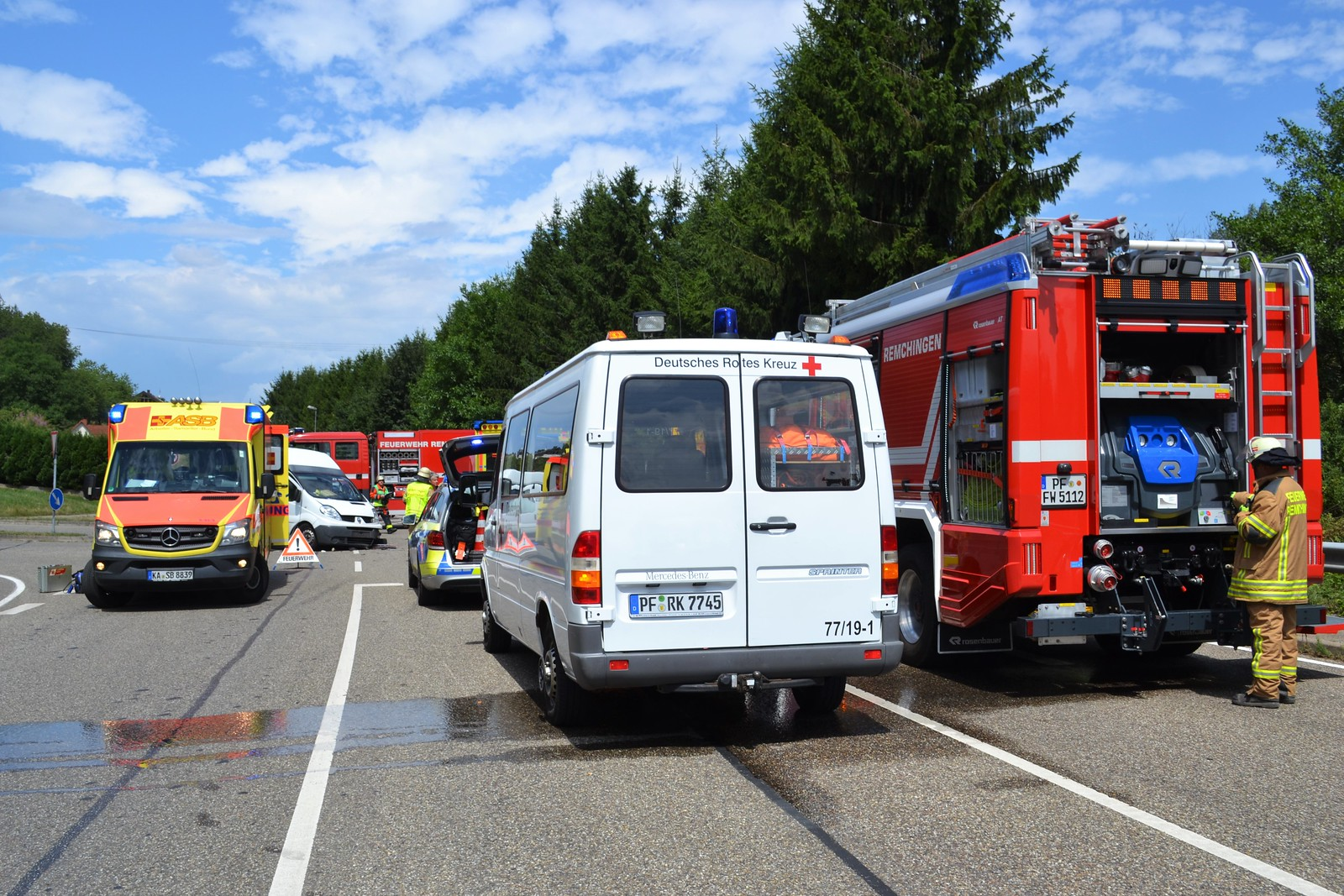 B10 bei Langensteinbach: VU - 14.07.2017