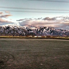I've lived here two years now and I hope I never take this view for granted. Such beauty just outside my work place. I feel like this is just about the best place I could have come to raise my family #utahstate #mountains #mountainliving #lovelife #raisin